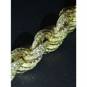 Harlembling Accessories - Mens 12mm Rope Bracelet 14k Gold & Real Solid 925